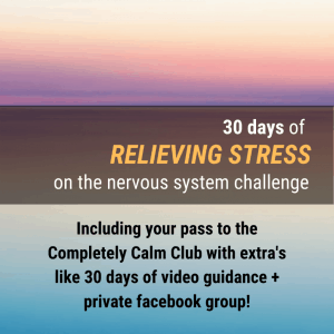30 days of relieving stress on the nervous system challenge