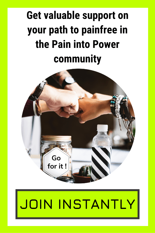 Chronic pain support in healing